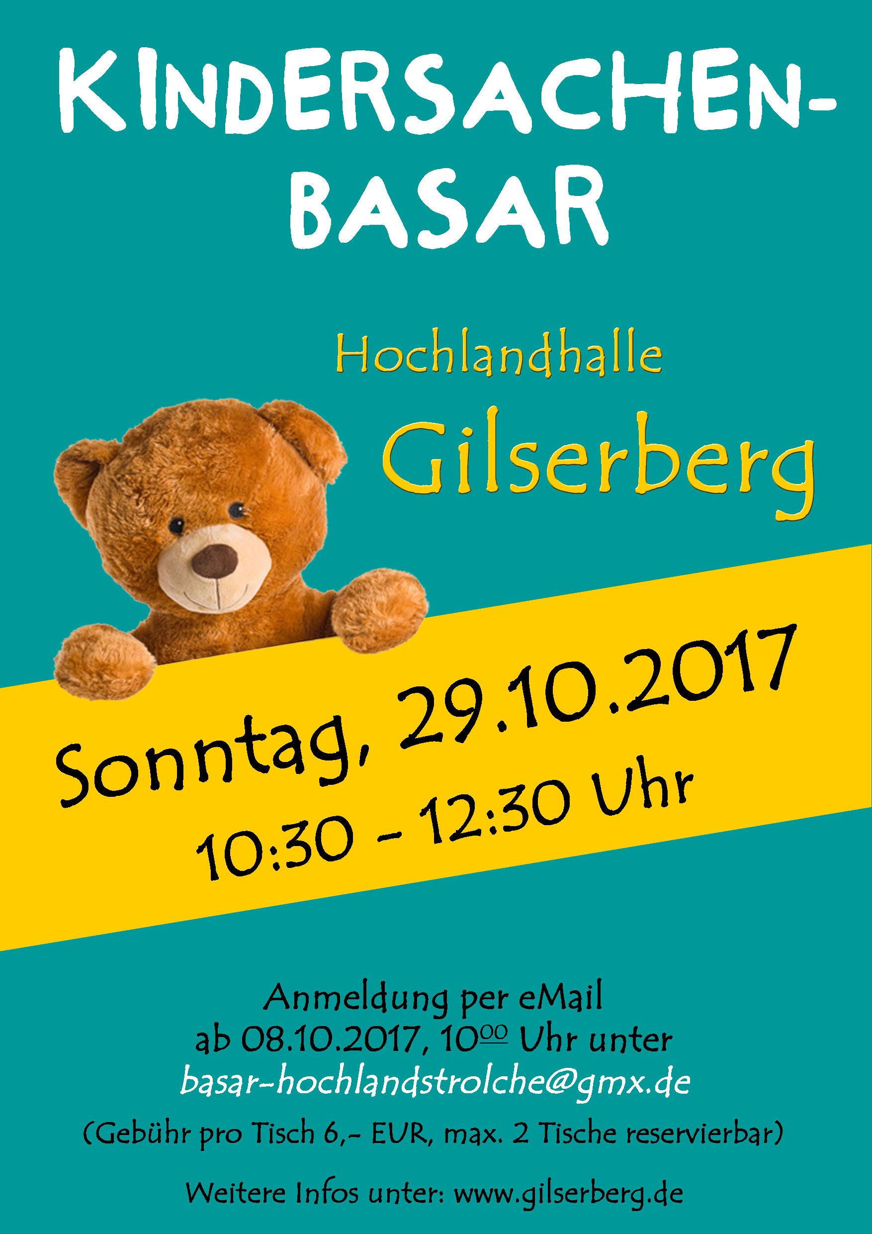 Kindersachenbasar 29.10.2017